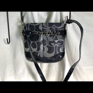 Coach crossbody bag navy blue colored